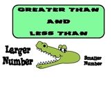 Greater Than Less Than Alligator Poster