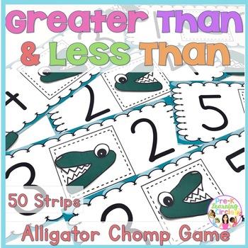 Greater Than/Less Than Alligator Chomp Card Game