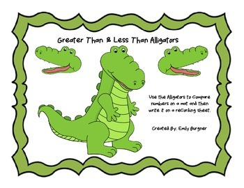 picture regarding Greater Than Less Than Alligator Printable known as Improved Than Significantly less Than Alligator Worksheets Schooling