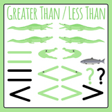 Greater Than Less Than Alligators / Comparing Numbers Clip Art Pack
