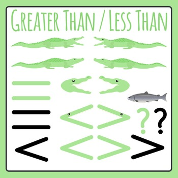 Greater Than Less Than Alligators / Comparing Numbers Clip