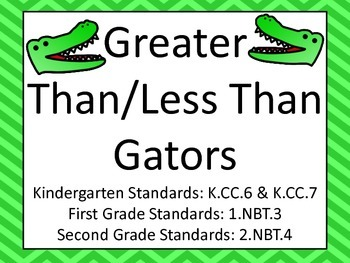 Greater Than Less Than Alligators, Place Value Comparing N