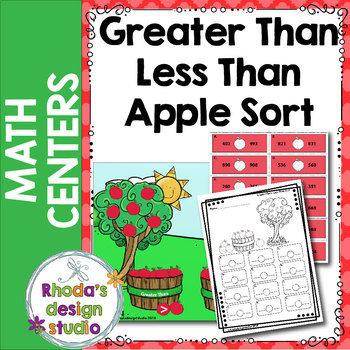 Greater Than Less Than Apple Sorting Center or Activity