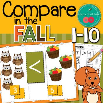 Greater Than Less Than Autumn Math