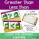 Greater Than Less Than COUNT THE CRAYONS