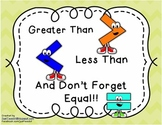 Greater Than Less Than Centers, Assessments, and Small Group Instruction