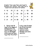 Greater Than / Less Than Christmas Themed Worksheet