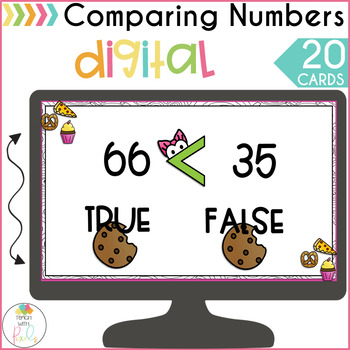 DIGITAL Comparing Numbers Activity   Greater Than Less Than