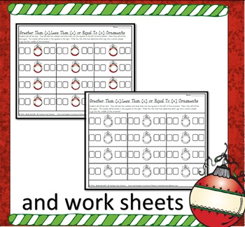 Greater Than Less Than Pages and Number Mats for Christmas