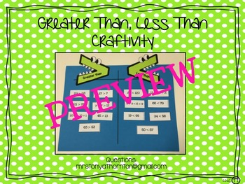 Greater Than Less Than Craftivity
