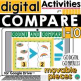 Greater Than, Less Than Digital Google Classroom Activity