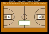 Greater Than, Less Than, Equal - Basketball Smart Board