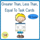 Greater Than, Less Than, Equal To Task Cards