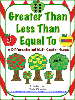 Greater Than, Less Than, Equal To ~ A Differentiated Math Center Game