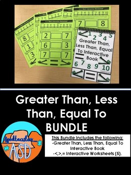 Greater Than, Less Than, Equal To BUNDLE!