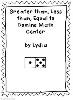 Greater Than, Less Than, Equal To Domino Center