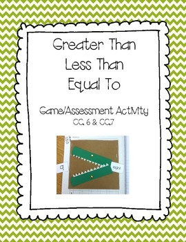 Greater Than, Less Than, & Equal To Folder Game/Assessment