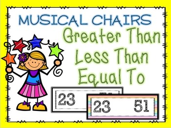 Greater Than/Less Than/Equal To Musical Chairs