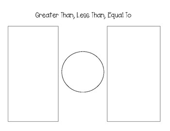 Greater Than, Less Than, Equal To Organizer