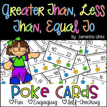 Greater Than, Less Than, Equal To {Poke Cards}