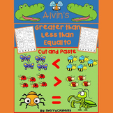 Bugs - Greater Than Less Than Equal To Printables (Cut and Paste)