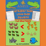 Ocean Animals - Greater Than Less Than Equal To Printables (Cut and Paste)