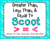Greater Than, Less Than, Equal To SCOOT Game/Task Cards