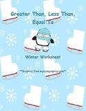 Greater Than, Less Than, Equal To Worksheet: Winter Edition