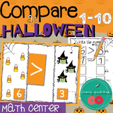 Greater Than Less Than Equal to Halloween Math Center or K