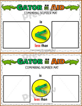 Comparing Numbers - Greater Than Less Than Equal to Posters Worksheets and Mats