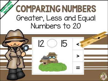 Greater Than, Less Than, Equal to #s to 20 {Detective Style!}