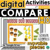 Greater Than, Less Than - Fall Theme - Google Classroom  D