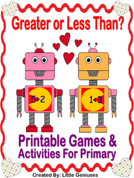 Greater Than/Less Than Games and Activities For Primary Grades