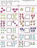 Greater Than, Less Than Hand-Drawn Printables