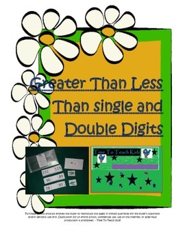 Greater Than Less Than Math Center Double and Triple Digits- Digital Download