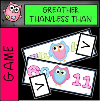 Greater Than Less Than Math Musical Chairs Game