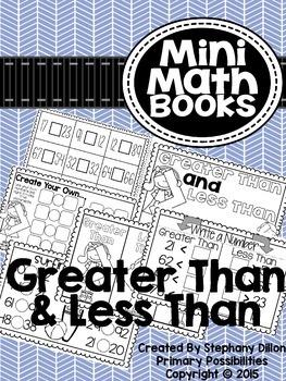 Greater Than & Less Than { Mini Math Book }
