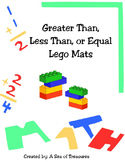 Greater Than, Less Than, Or Equal Lego Mats