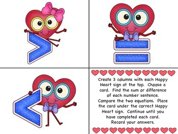 Greater Than, Less Than, Or Equal to - Happy Hearts Math Tubs