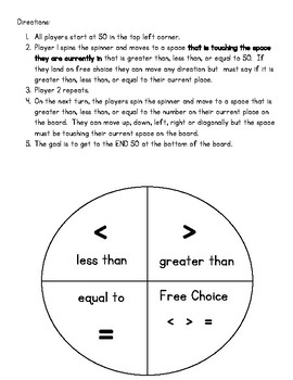 Greater Than, Less Than, Or Equal to Race (Game)