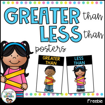 Greater Than, Less Than Posters {FREE}
