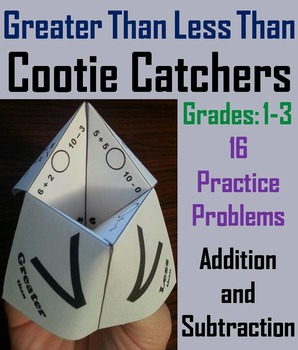 Greater Than Less Than Equal To Game for 1st 2nd 3rd Grade