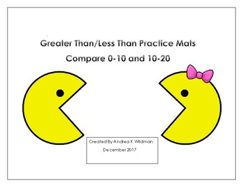 Greater Than Less Than Practice Mats