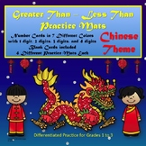 Greater Than Less Than Practice Mats: Chinese Theme