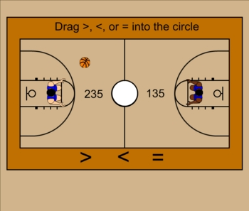 Greater Than, Less Than Practice Smartboard Lesson