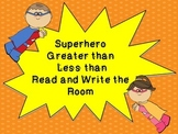 Greater Than / Less Than Read the Room Superhero Theme