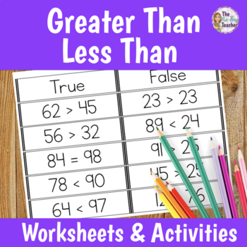Greater Than Less Than Worksheet Teaching Resources | Teachers Pay ...