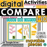 Greater Than, Less Than -School Theme- Google Classroom  D