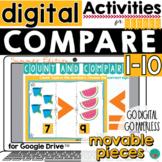 Greater Than, Less Than - Summer Theme - Google Classroom