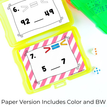 Number Sense SCOOT Task Cards Greater Than Less Than